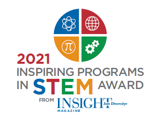 Colorful logo from Insight Into Diversity magazine for the STEM Award