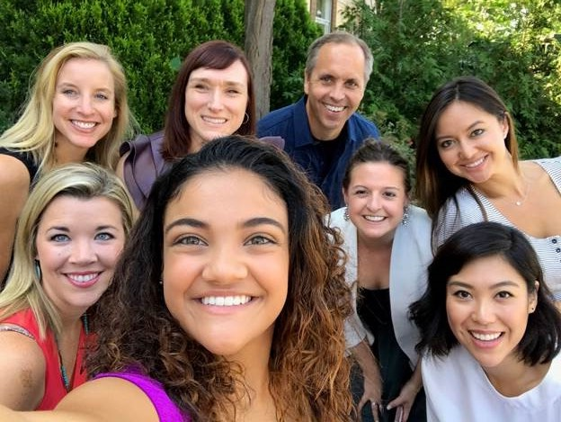 Alcon coworkers and Olympian Laurie Hernandez