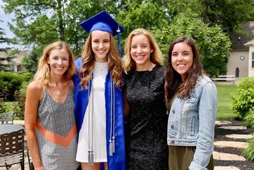 L to R: Lisa VonDach (sister), Summer Mack, Carla Mack, Malia Mack