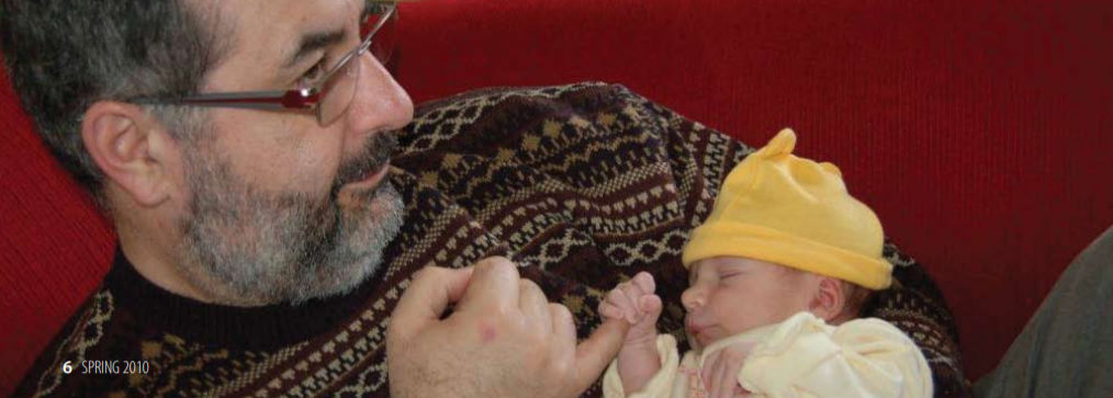 Jeff Myers (OD'84) and his new granddaughter Isla.