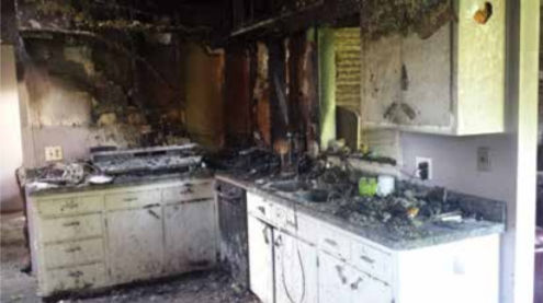 What is left of our kitchen, post-fire.