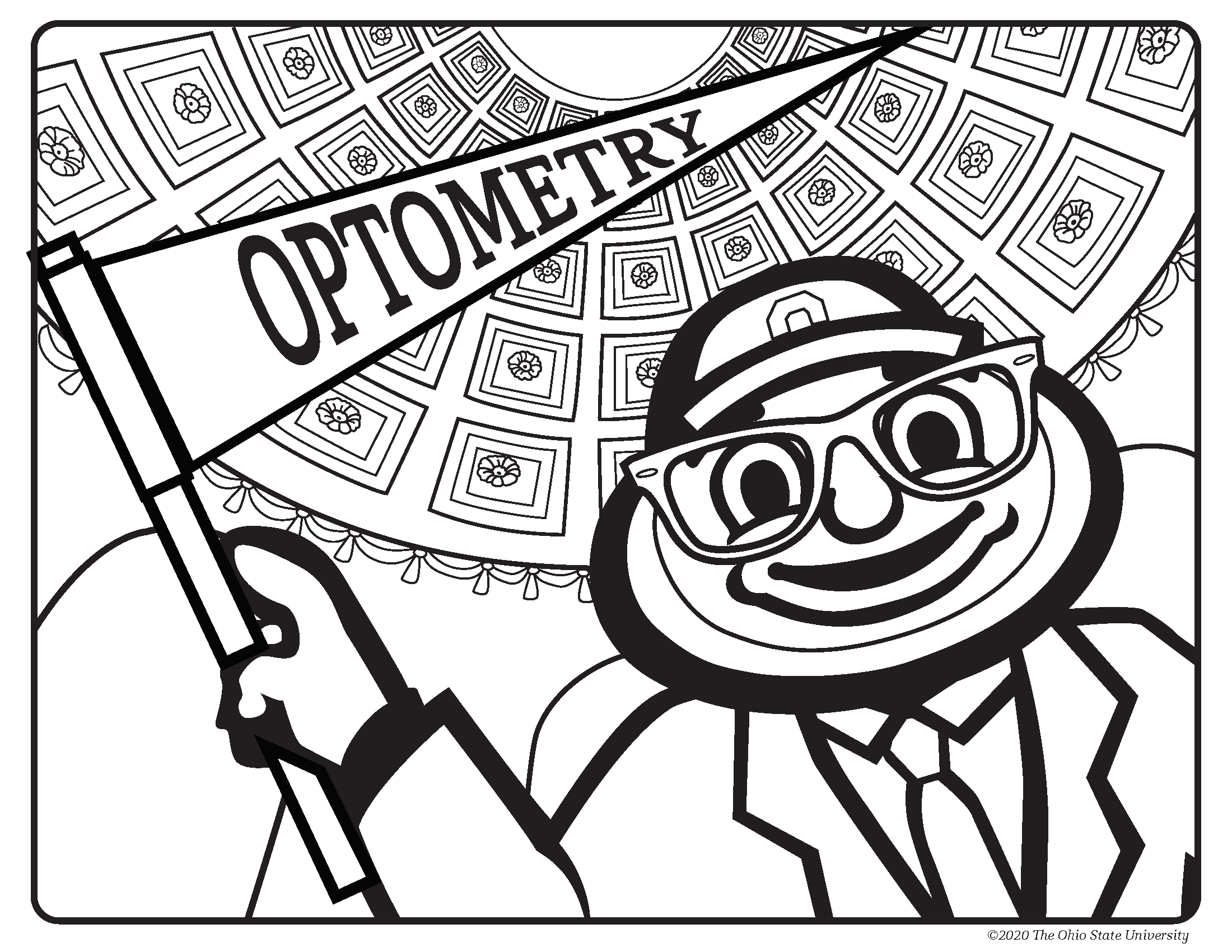 Download the Cool Brutus at Ohio Stadium coloring page